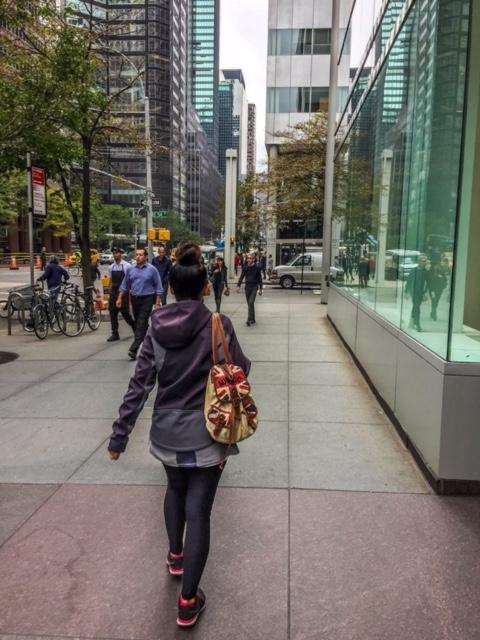 Typical sidewalk in New York City